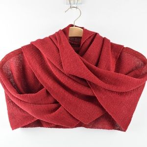 NWT Natural Style 100% Red Linen Scarf